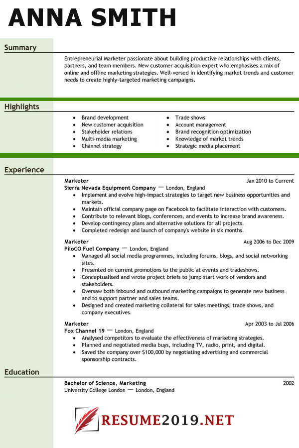 what resume template to choose in 2019  u22c6 best resume 2019