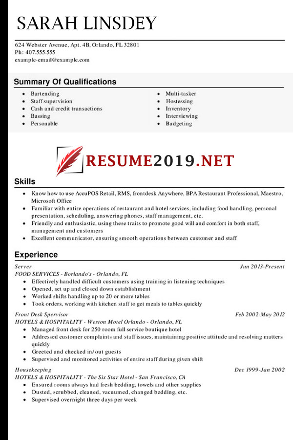 latest resume format 2019  u22c6 best resume 2019